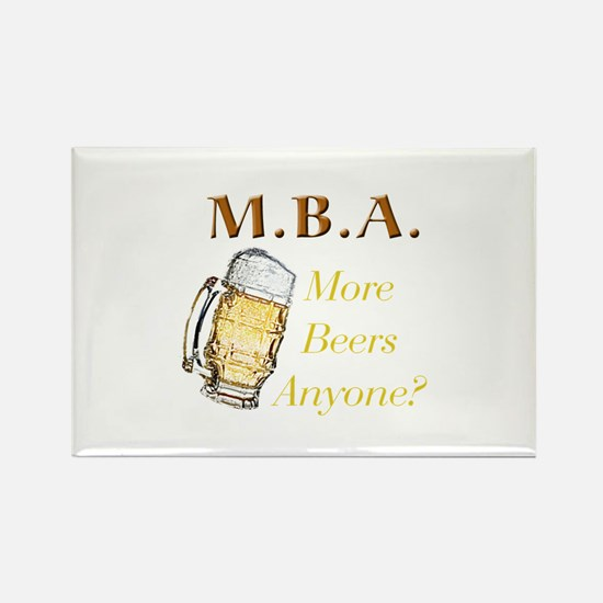 MBA Beers Rectangle Magnet