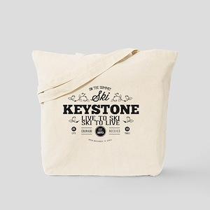 Keystone Old Ivy Black Tote Bag