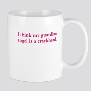 Guardian angel crackhead - pink text Mugs
