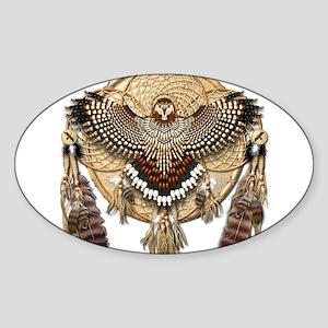 Red-Tailed Hawk Dreamcatcher Mandala Sticker