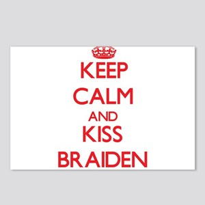 Keep Calm and Kiss Braiden Postcards (Package of 8