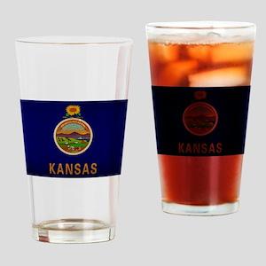 Kansas State Flag VINTAGE Drinking Glass