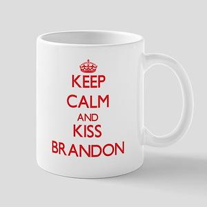 Keep Calm and Kiss Brandon Mugs