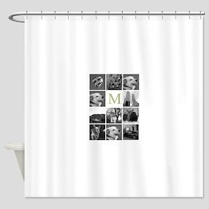 Monogram and Photoblock Shower Curtain