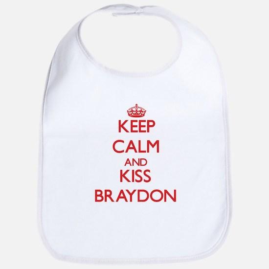 Keep Calm and Kiss Braydon Bib