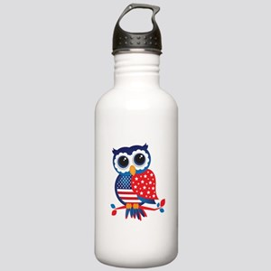 USA Owl Water Bottle