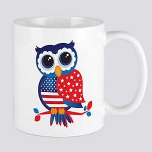 USA Owl Mugs