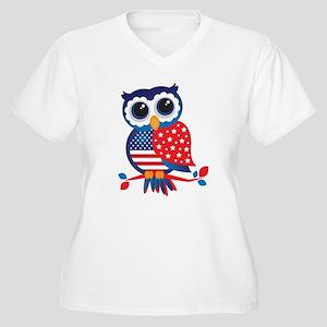 USA Owl Plus Size T-Shirt