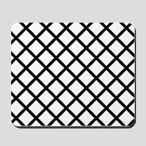 Black Cross Hatch Mousepad