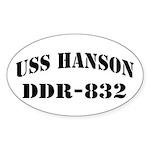 USS HANSON Sticker (Oval)