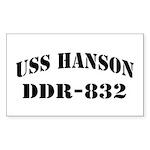 USS HANSON Sticker (Rectangle)
