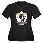 USS HANSON Women's Plus Size V-Neck Dark T-Shirt