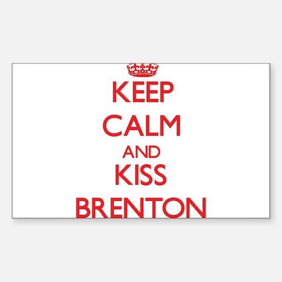 Keep Calm and Kiss Brenton Decal