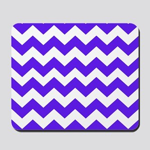 Blue and White Chevron Mousepad