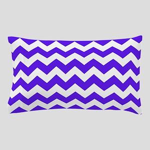 Blue and White Chevron Pillow Case