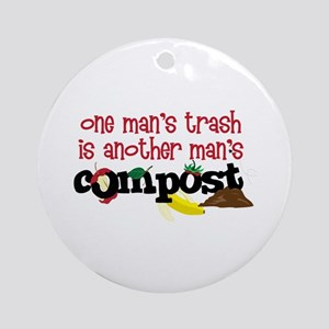 One mans trash is another mans Compost Ornament (R