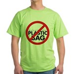 No Plastic Bag Green T-Shirt