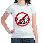 No Plastic Bag Jr. Ringer T-Shirt