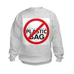 No Plastic Bag Kids Sweatshirt