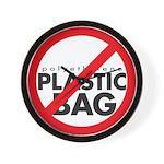 No Plastic Bag Wall Clock