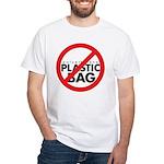 No Plastic Bag White T-Shirt