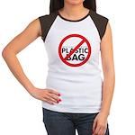 No Plastic Bag Women's Cap Sleeve T-Shirt