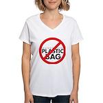 No Plastic Bag Women's V-Neck T-Shirt