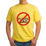 No Plastic Bag Yellow T-Shirt