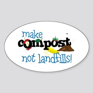 make compost not landfills ! Sticker
