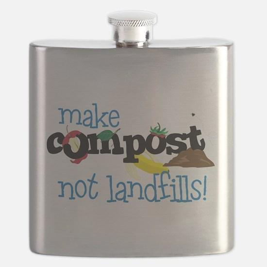 make compost not landfills ! Flask