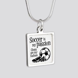 CLEATS Silver Square Necklace