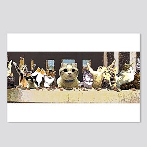 Cat Last Supper Postcards (Package of 8)