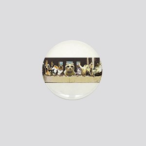 Cat Last Supper Mini Button