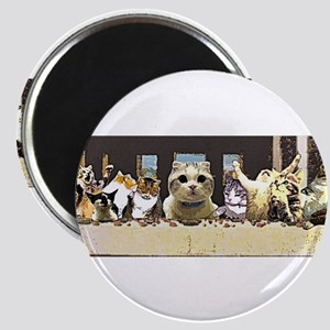 Cat Last Supper Magnets