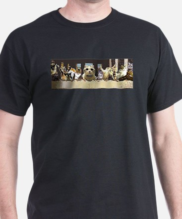 Cat Last Supper T-Shirt