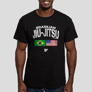 Brazilian Jiu-Jitsu (U Men's Fitted T-Shirt (dark)