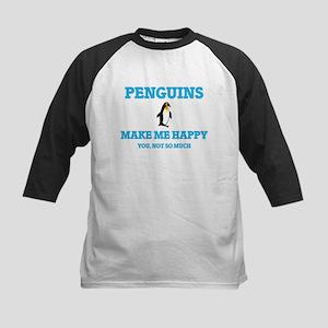 Penguins Make Me Happy Baseball Jersey