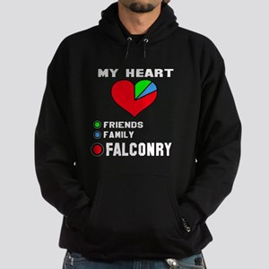 My Heart Friends, Family and Falconr Hoodie (dark)