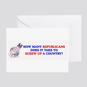 Worst president greeting cards cafepress how many republicans does it greeting cards pack m4hsunfo