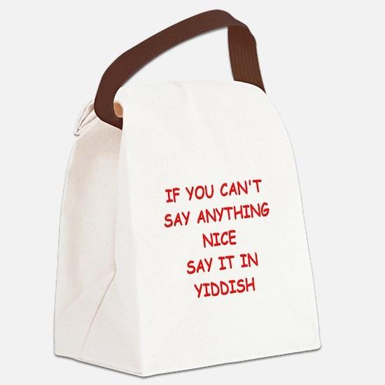 YIDDISH Canvas Lunch Bag
