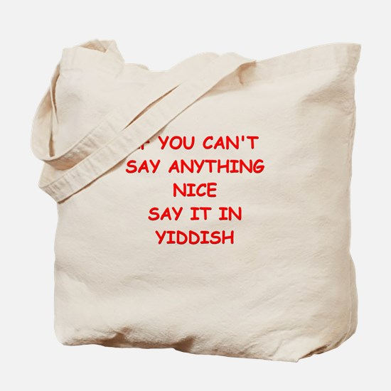 YIDDISH Tote Bag