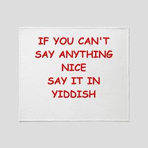 YIDDISH Throw Blanket