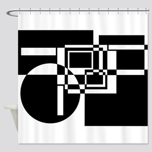Squares And Circle Design #8 Shower Curtain