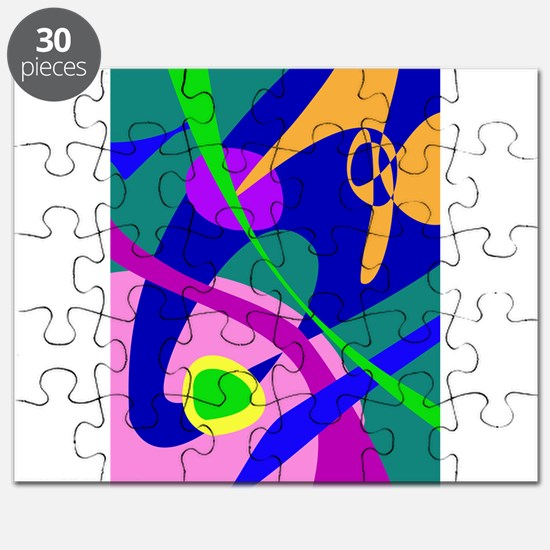 Philosophical Man Digital Abstract Pattern Puzzle