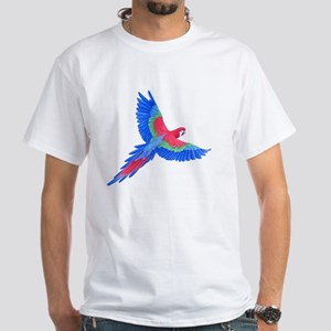 Macaw White T-Shirt
