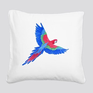 Macaw Square Canvas Pillow