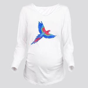 Macaw Long Sleeve Maternity T-Shirt