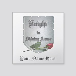 Knight In Shining Armor Rose Personalize Sticker