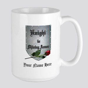 Knight In Shining Armor Rose Personalize Mugs