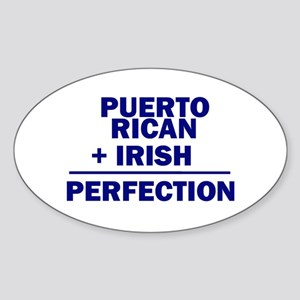 Puerto Rican + Irish Oval Sticker
